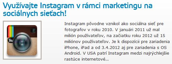 Využívajte Instagram v rámci marketingu na sociálnych sieťach!