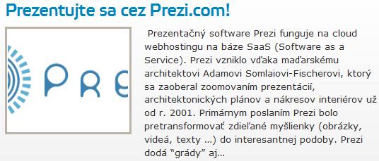 Prezentujte sa cez Prezi.com!