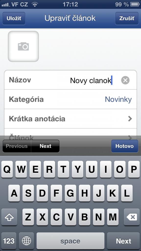 tvorba nového článku, novinky, blogpostu na Flox app