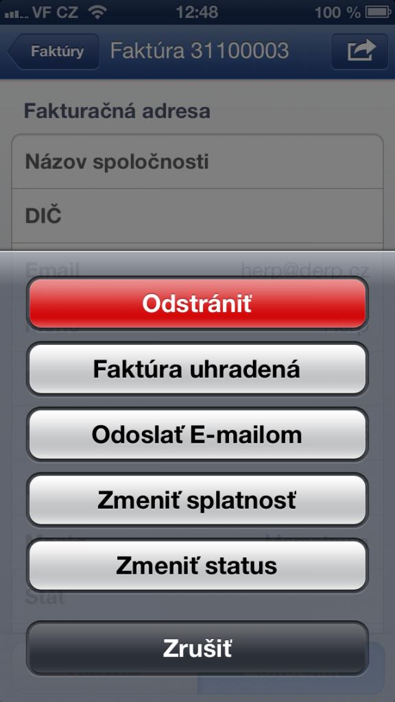 faktúry na flox app