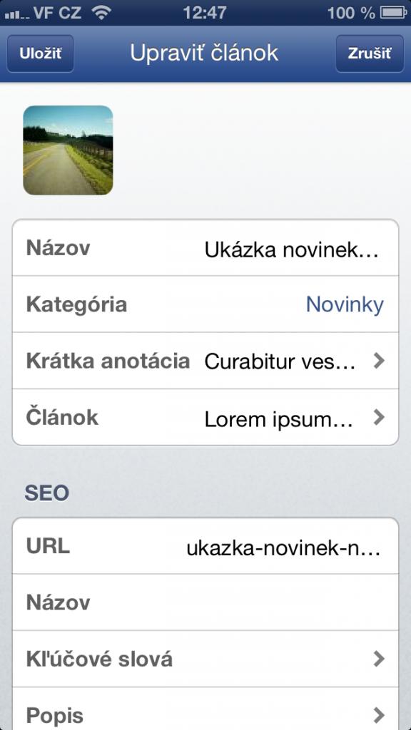 seo optimalizácia článkov vo Flox app