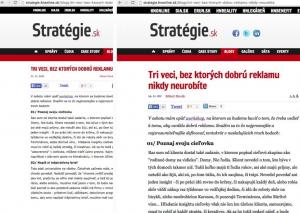 webdesign - úprava textu na web stránce