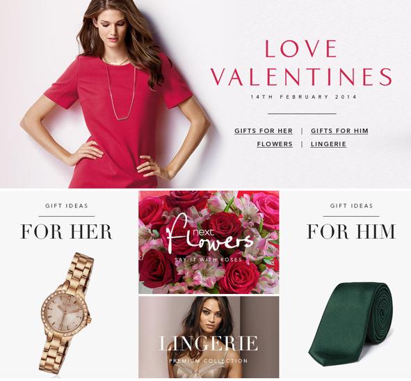 kategorizace produktů v souvislosti s valentýnem