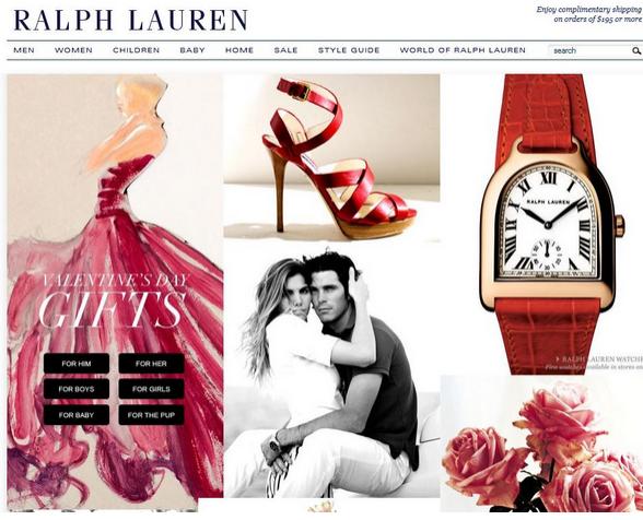 úprava web stránky nebo e-shopu na valentýna