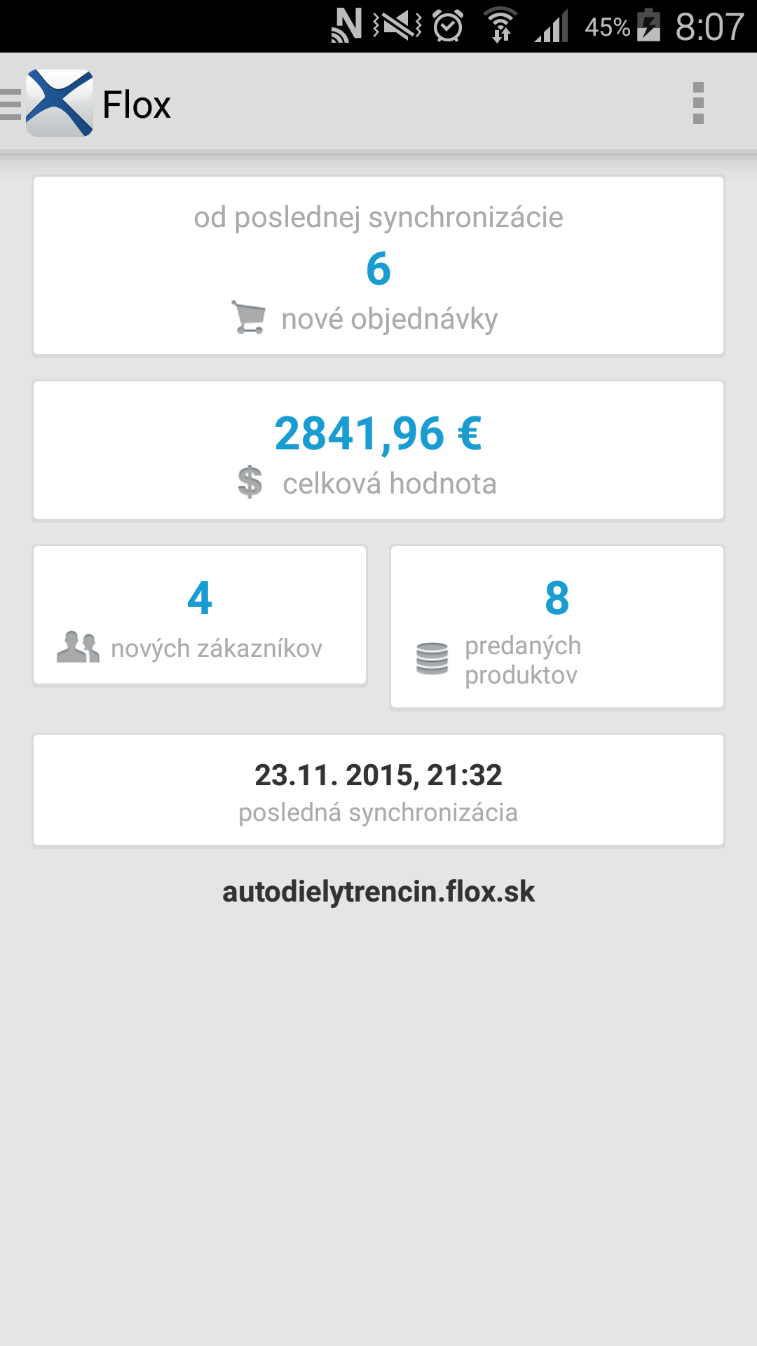mobilná aplikácia FLOX