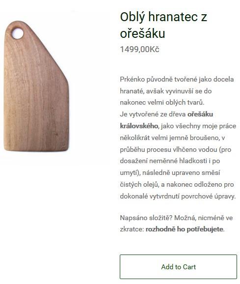 jedu si dřevo, ukážka prezentácie produktu