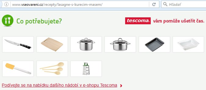 obsahový marketing tescoma