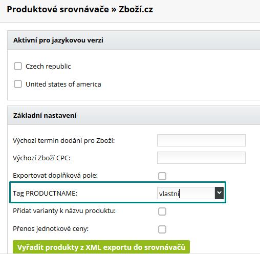 úprava xml feedu pre zboží