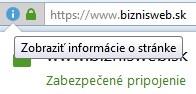 zabezpečené SSL pripojenie