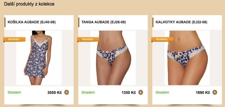 doporučené produkty v e-shope