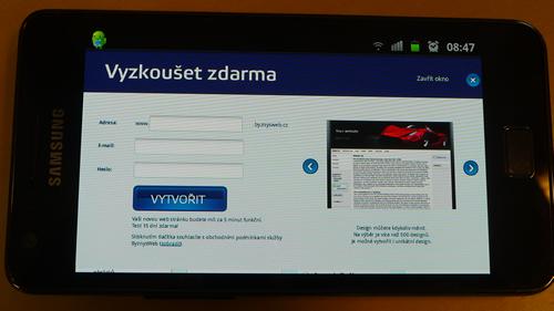 vytvorenie web stránky cez mobil alebo tablet