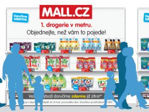 nákup cez qr kód, mall.cz, drogerie v metru