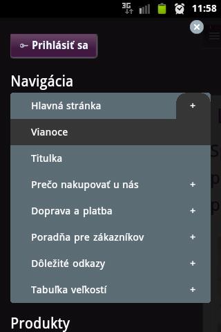 mobilná responzívna verzia www stránky od BiznisWeb.sk