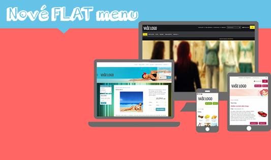 nové obrázkové menu vo FLAT šablóne webstránky a e-shopu