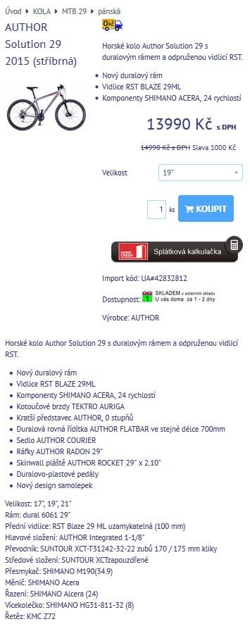 xml import produktov od dodávateľa