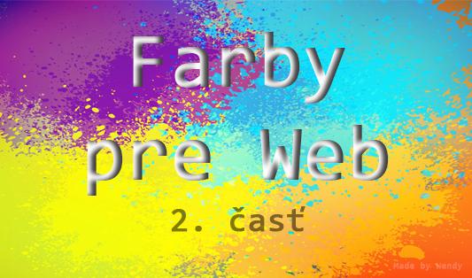 aké farby použiť do dizajnu webu, webdizajn