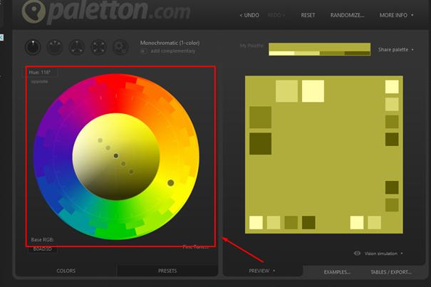 naučte sa správne miešať a kombinovať farby pomocu nástroja paletton.com