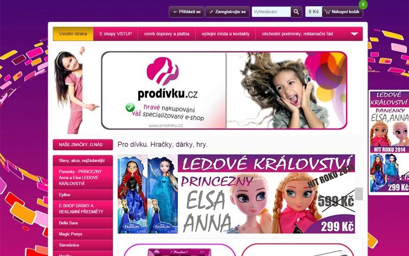 fialové odtiene na webe s tovarom pre dievčatá - prodivku.cz