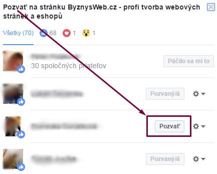 získavanie fanúšikov na FB stránky