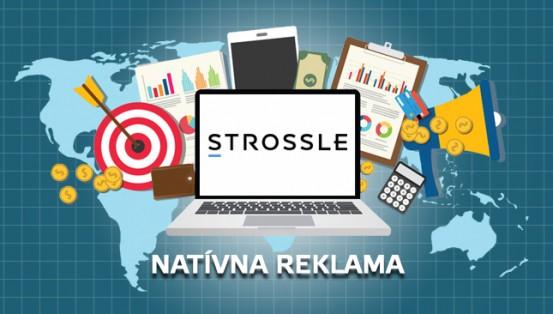 natívna reklama Strossle