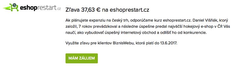 eshoprestart – zľava pre klientov BiznisWebu