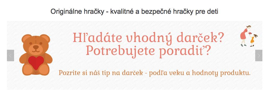 sekce TIP na dárek v e-shopu originalnehracky.sk