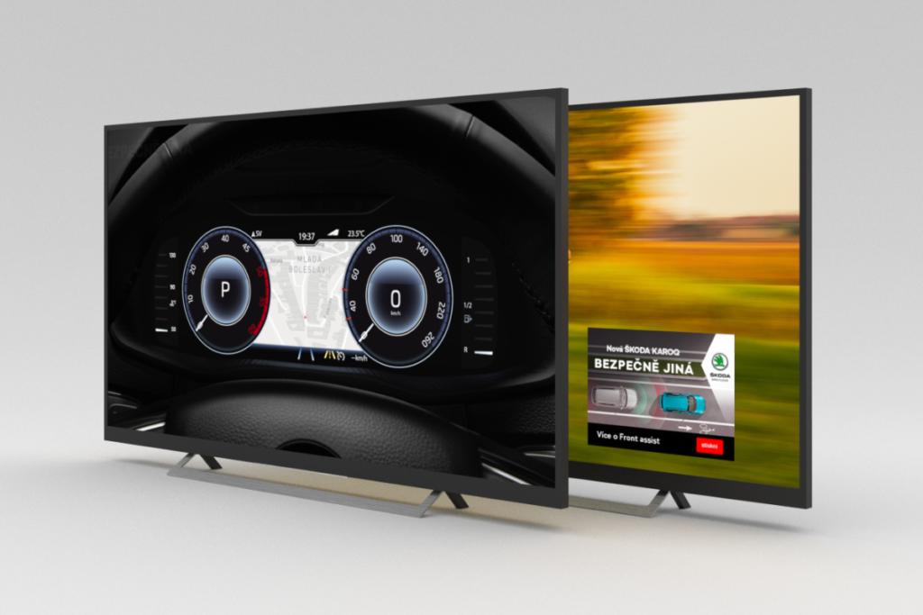 ukážka videospotov a bannerov programatickej kampane Škoda Auto