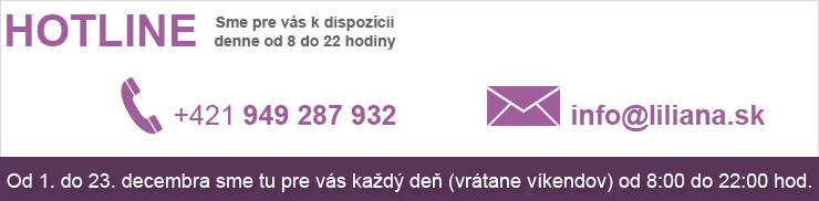 predvianočný hotline e-shopu liliana.sk