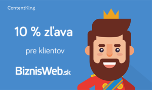 10 % doživotná zľava na ContentKing