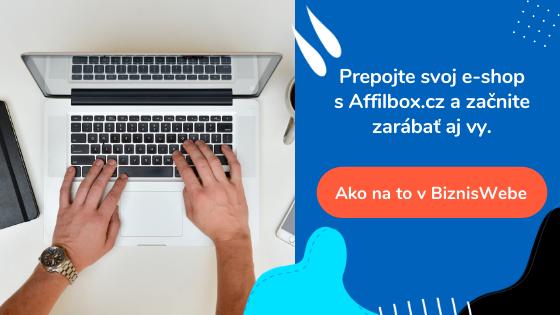 ako prepojiť e-shop s affiliate od Affilbox.cz