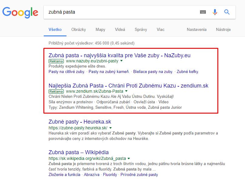 platená reklama pre eshop: PPC, Google Ads